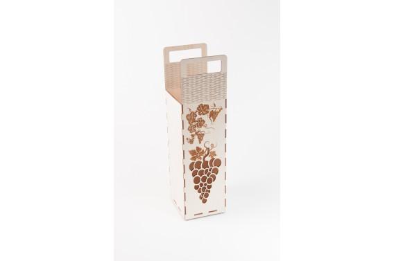 Dėžutė brendžio buteliui (Orn. vynuogė)