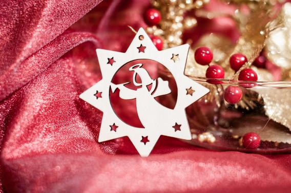 Kalėdinis žaisliukas (žvaigždutė) - Angeliukas1