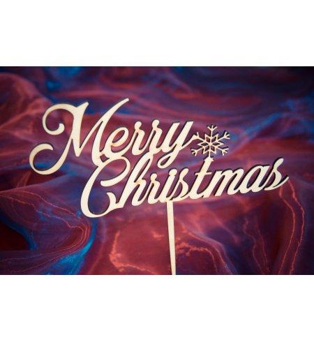 """Medinis smeigtukas """"Merry Christmas"""""""