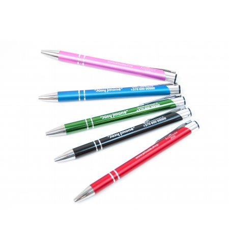 Graviruotas metalinis rašiklis