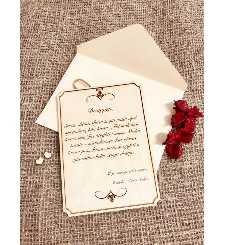 Medinis kvietimas - Kalendoriaus lapelis