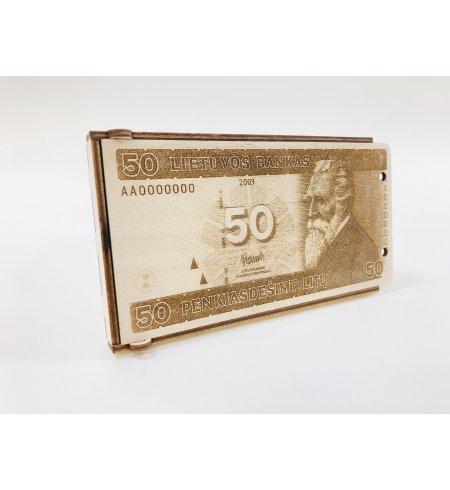 Medinis dovanų vokelis - 50 litų