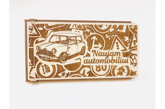 Medinis dovanų vokelis - naujam automobiliui