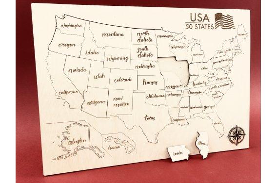 Dėlionė - Žemėlapis (JAV)