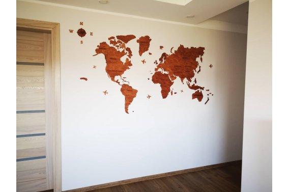 """Sienos dekoracija """"Pasaulio žemėlapis"""""""