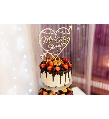 Vestuvinis torto smeigtukas