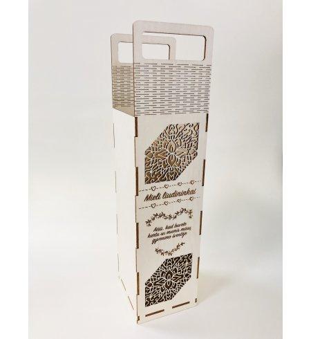 Dėžutė šampano buteliui (Liudininkams)