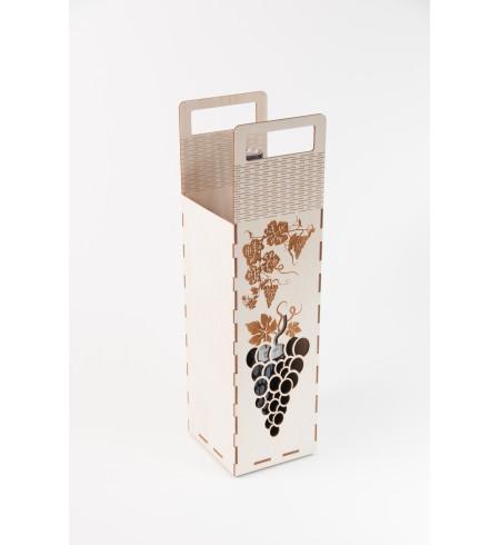 Dėžutė vyno buteliui (Orn. vynuogė)