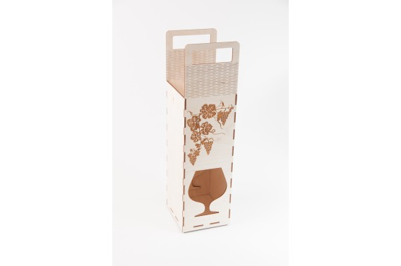 Dėžutė brendžio buteliui (Orn. brenžio taurė)