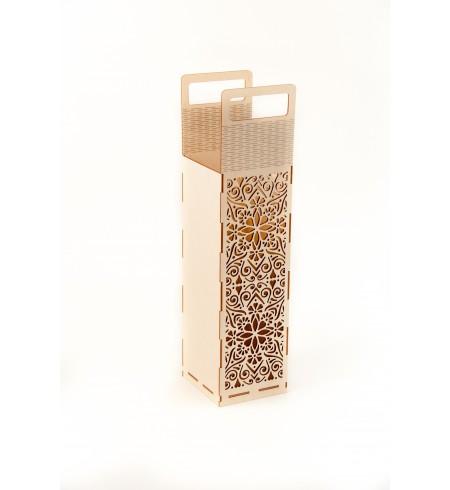 Dėžutė šampano buteliui (Orn. ažūrinė)